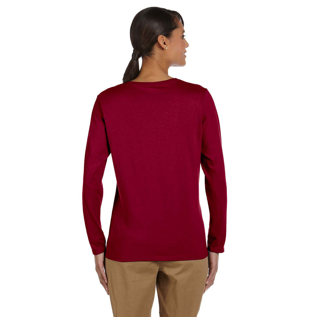 ff61f328c3 Gildan Women's Cardinal Red Heavy Cotton 5.3 oz. Long-Sleeve T-Shirt