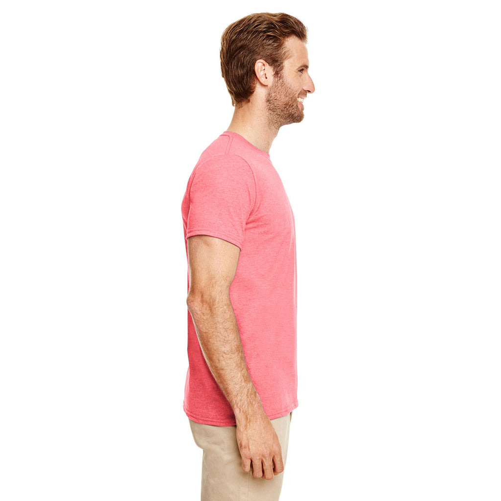 Gildan Men's Heather Coral Silk Softstyle 4.5 oz. T-Shirt