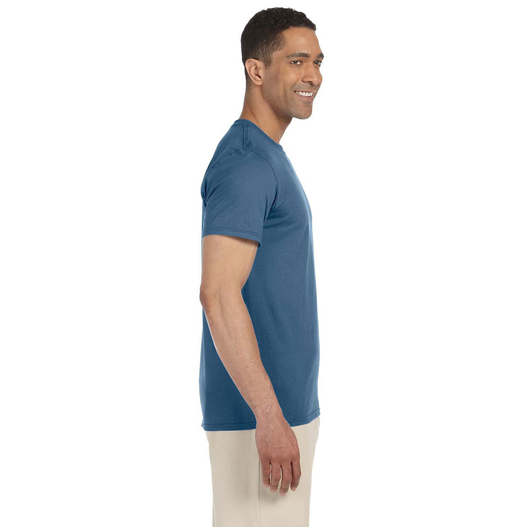 Gildan Men's Indigo Blue Softstyle 4.5 oz. T-Shirt