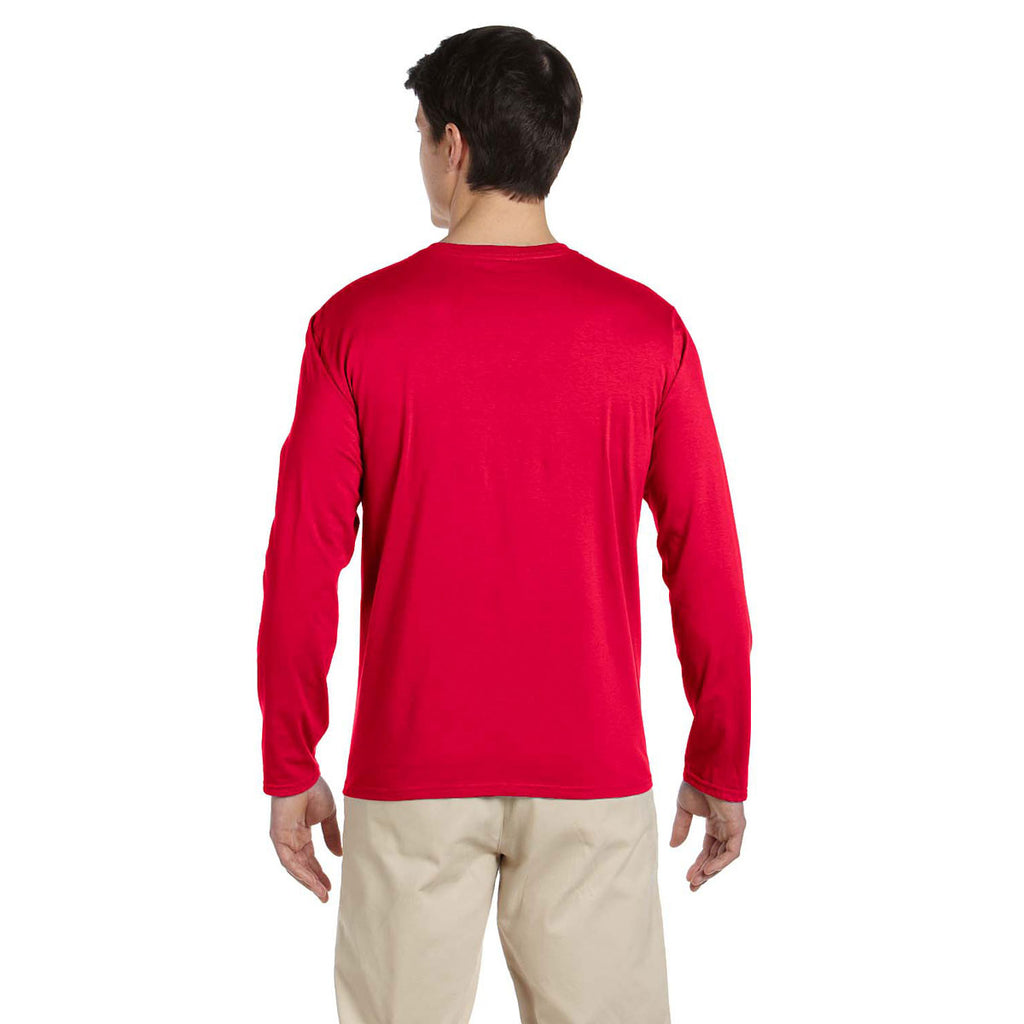 Gildan Men's Cherry Red Softstyle 4.5 oz. Long-Sleeve T-Shirt