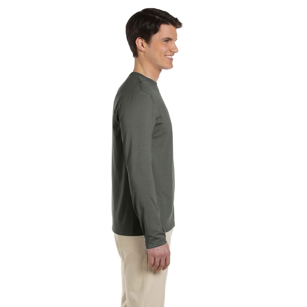 Gildan Men's Military Green Softstyle 4.5 oz. Long-Sleeve T-Shirt