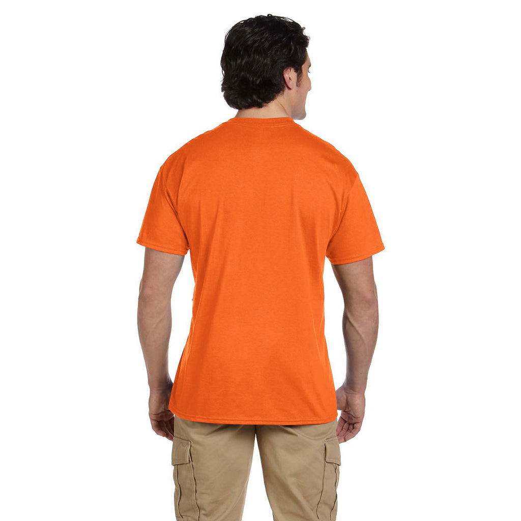 Gildan Men's Safety Orange 5.5 oz. 50/50 Pocket T-Shirt