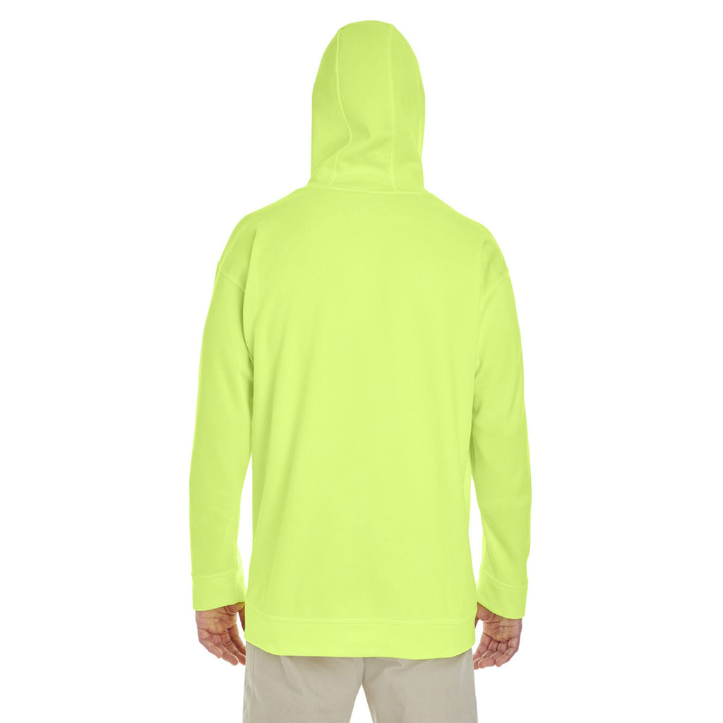 Gildan Men's Safety Green Performance 7 oz. Tech Hooded Sweatshirt