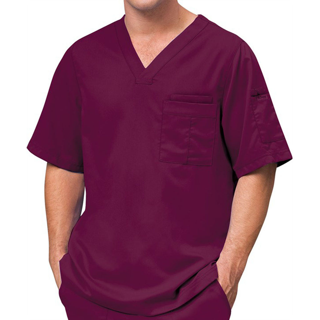 Grey's Anatomy Men's Wine V-Neck Top
