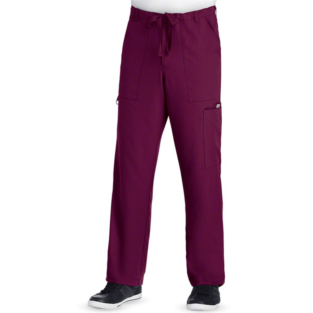Grey's Anatomy Men's Wine Drawstring Pant