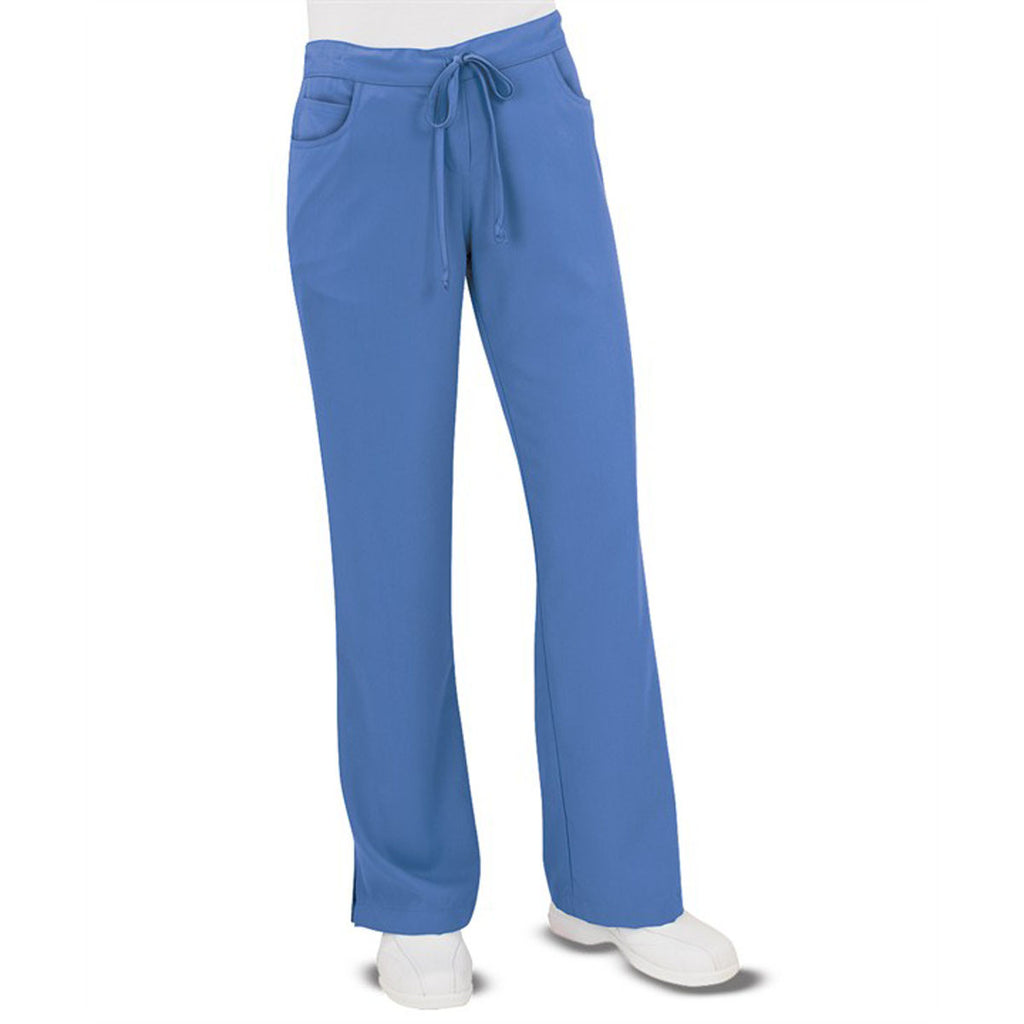 Grey's Anatomy Women's Ceil Blue Tie Front Pant