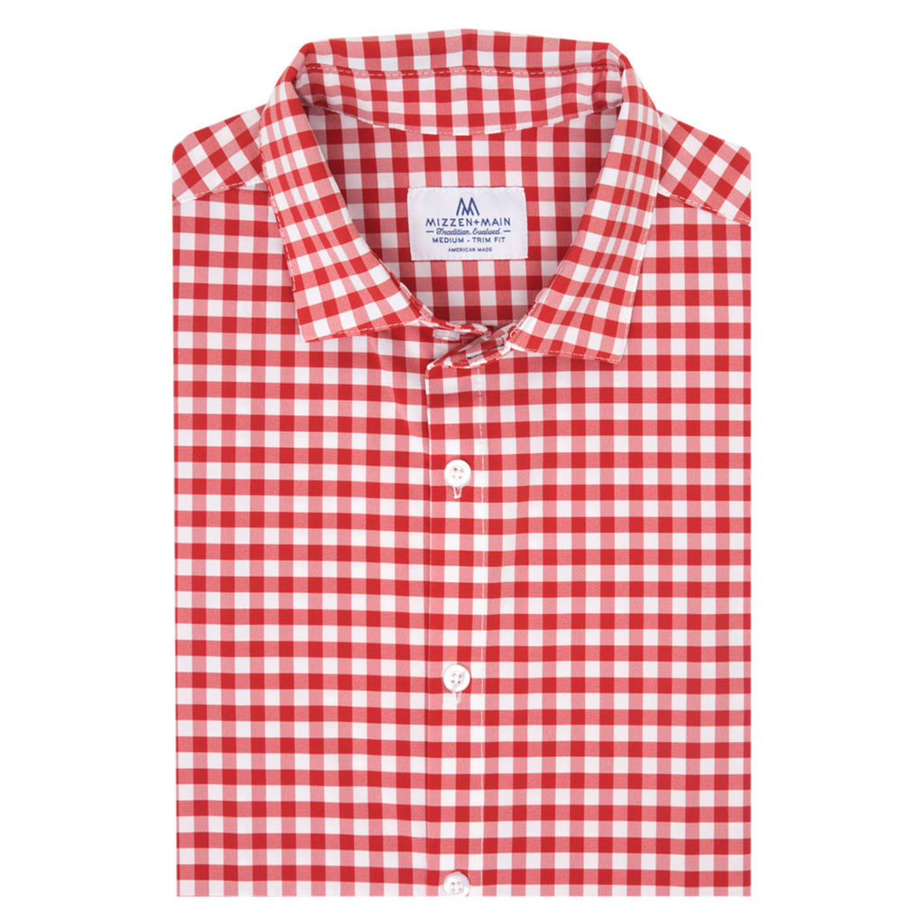 466d084b Mens Red Check Dress Shirt - DREAMWORKS