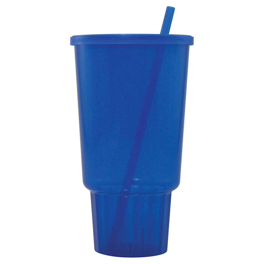Bullet Sapphire Jewel 32oz Car Cup with Lid and Straw