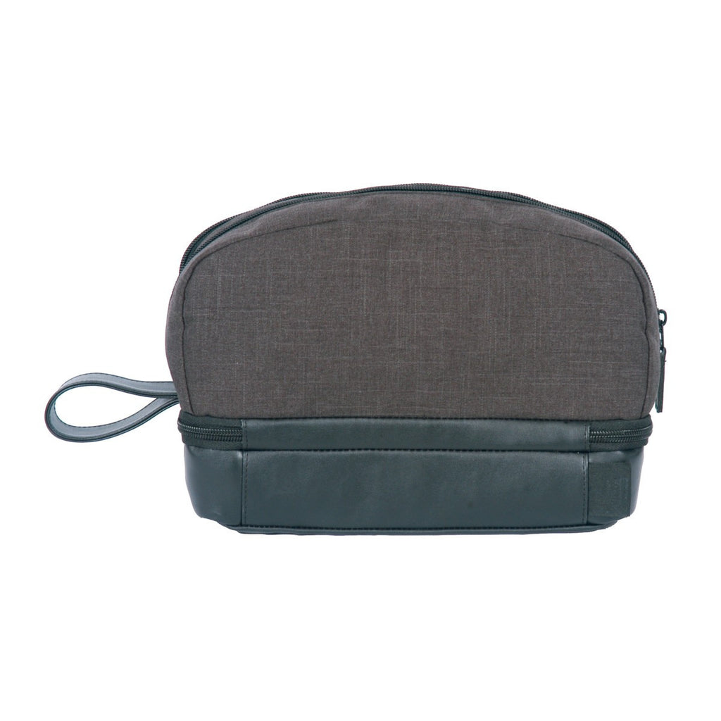 Heritage Supply Charcoal Heather Tanner Amenity Case