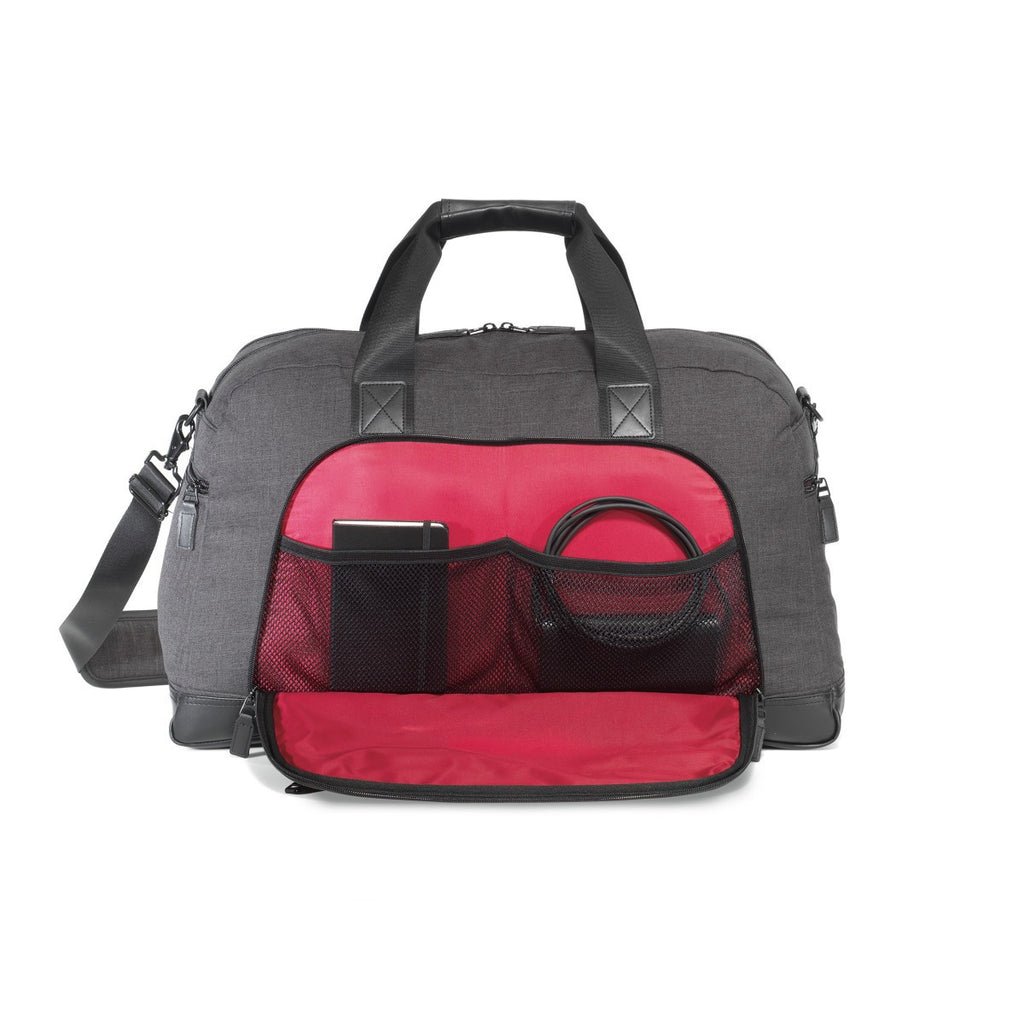 Heritage Supply Charcoal Heather Tanner Travel Duffel