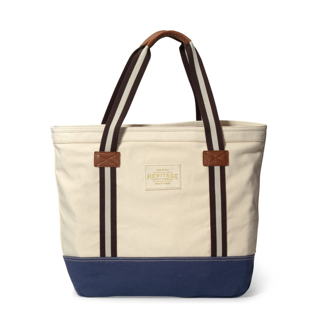 Heritage Supply Natural/Navy Catalina Cotton Tote