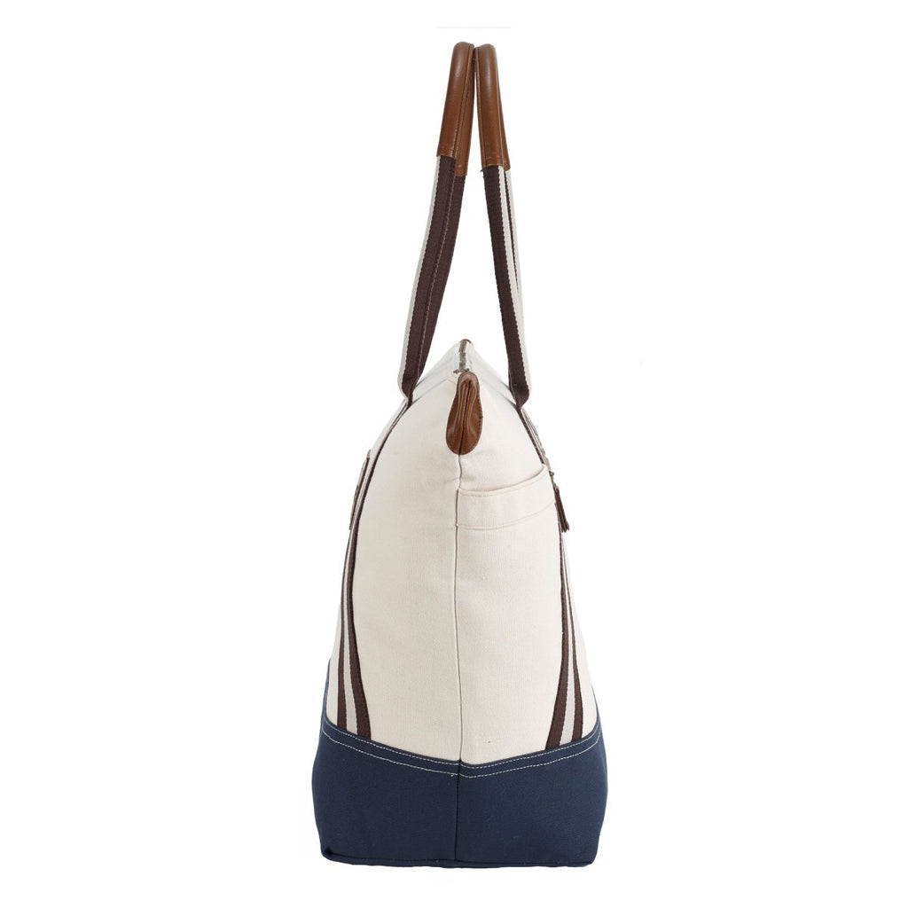 Heritage Supply Natural/Navy Oasis Cotton Boat Tote