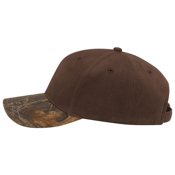 Paramount Apparel Dark Brown/Realtree Max-5 Brushed Cotton Twill and Camo Cap
