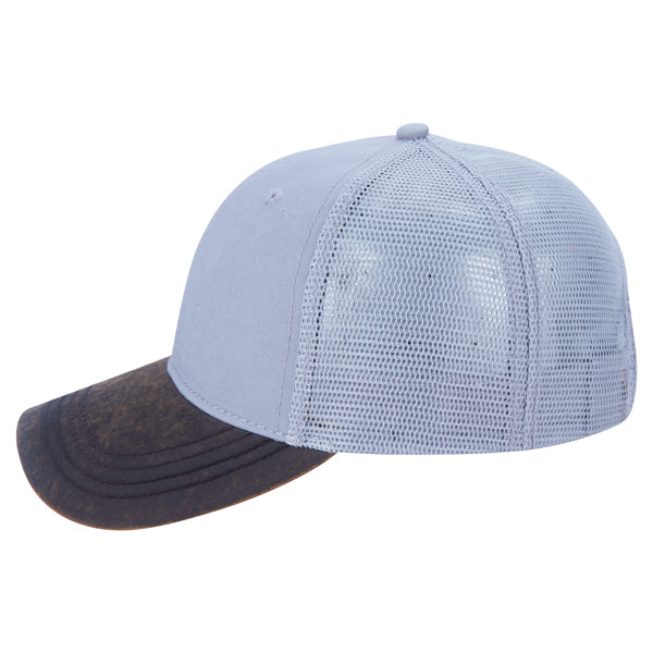 Paramount Apparel Silver Washed Twill and Waxcloth Cap