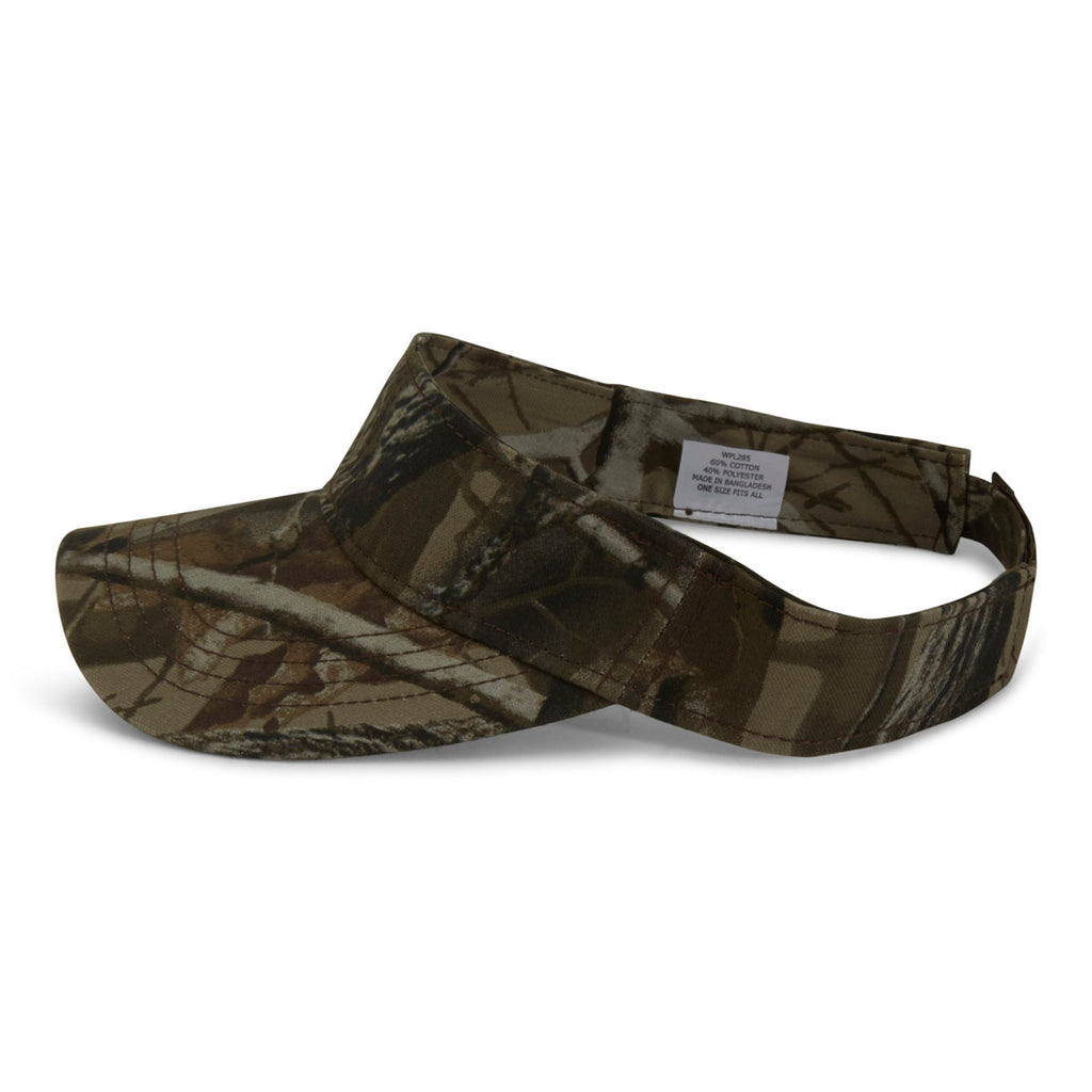 Paramount Apparel Realtree Hardwoods Hd Camo Fabric Visor