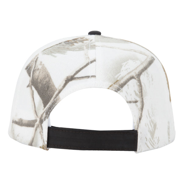 Paramount Apparel Realtree Ap Snow HD/Black Wax Cloth Camo Cap