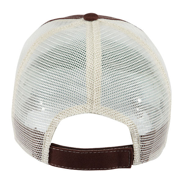 Paramount Apparel Brown/Ivory Caps 101 Two-Tone Mesh Back Cap