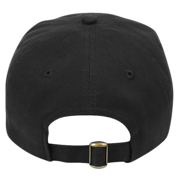 Paramount Apparel Black Caps 101 Unstructured Jockey Brushed Twill Cap