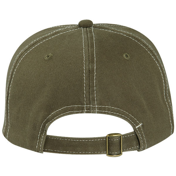 Paramount Apparel Stone/BSA Olive Caps 101 Two-Tone Washed Cap