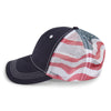 Paramount Apparel Navy Patriotic Flag Design Cap