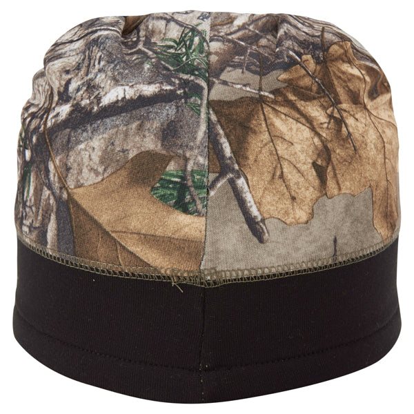 Paramount Apparel Realtree Xtra Brown/Black Camo and Blaze Fleece Beanie