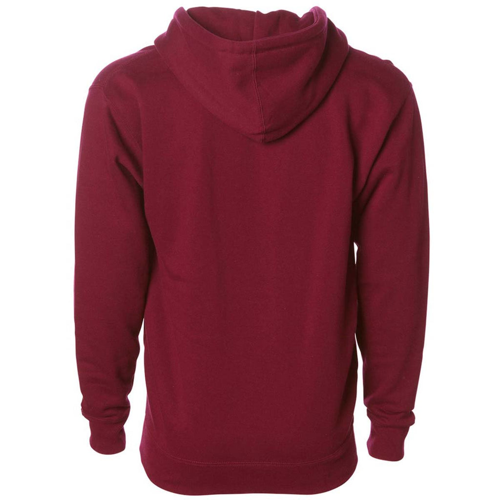 Independent Trading Co. Unisex Cardinal Hooded Full-Zip Sweatshirt
