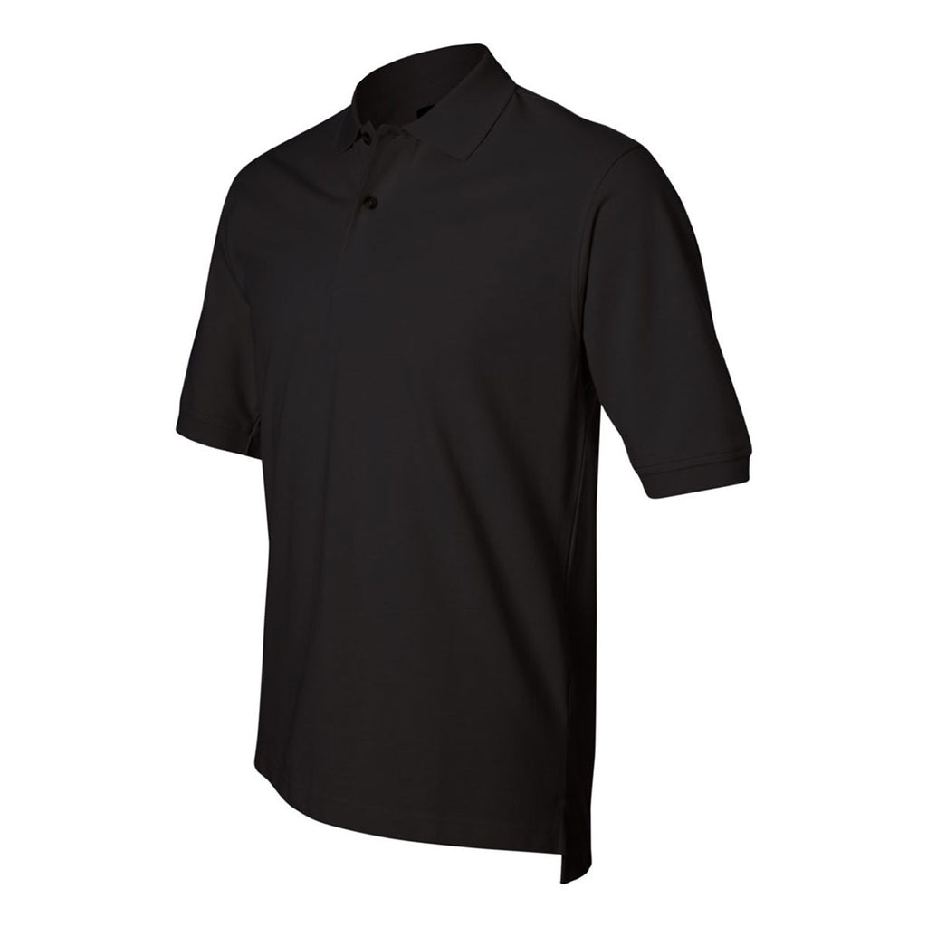 IZOD Men's Black Knit Pique S/S Polo