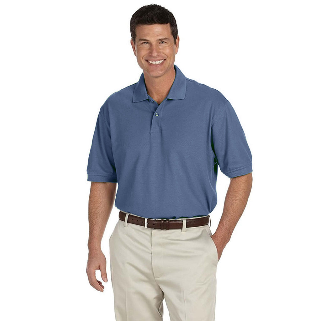 IZOD Men's Ocean Blue Knit Pique S/S Polo