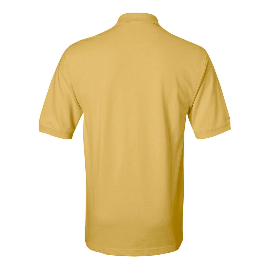 IZOD Men's Sunburst Yellow Knit Pique S/S Polo