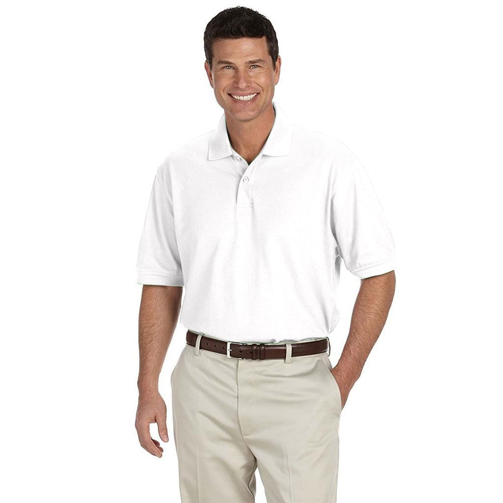 IZOD Men's White Knit Pique S/S Polo