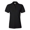 izod-womens-black-pique-polo