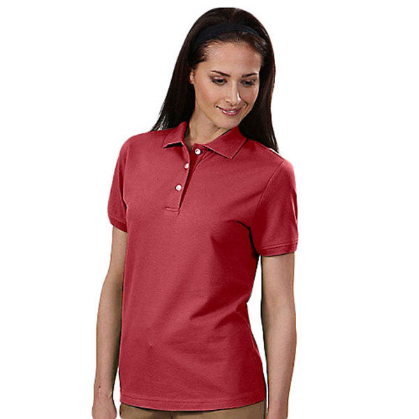 IZOD Women's Real Red Stretch Pique Polo