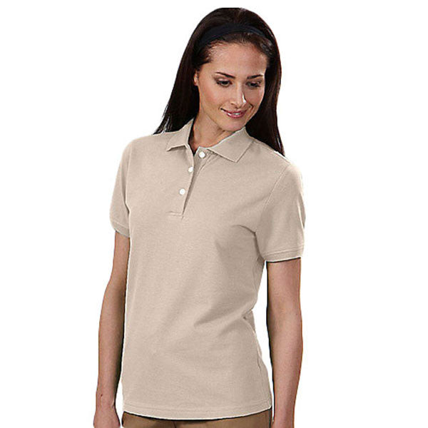 IZOD Women's Stone Dust Stretch Pique Polo