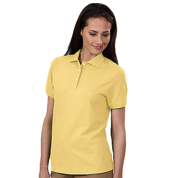 IZOD Women's Sunburst Yellow Stretch Pique Polo