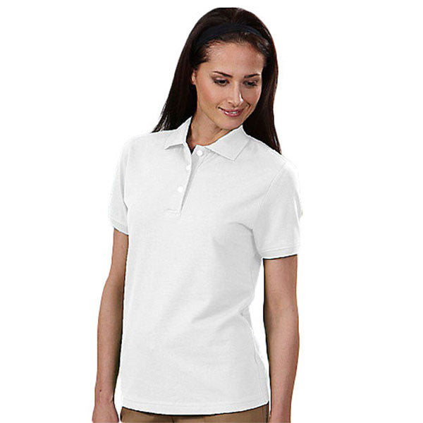 IZOD Women's White Stretch Pique Polo