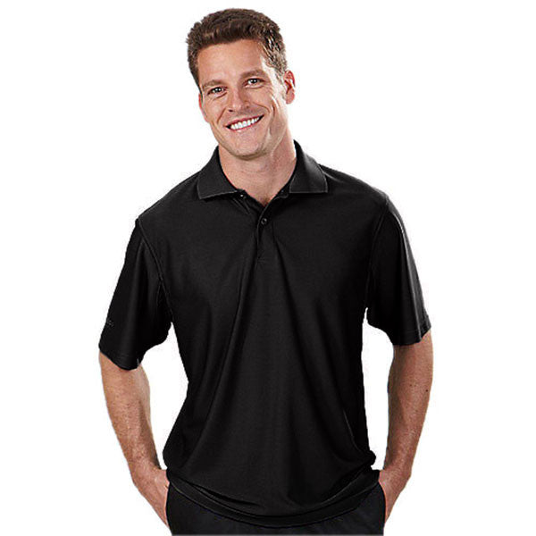 IZOD Men's Black Performance Poly Pique Polo