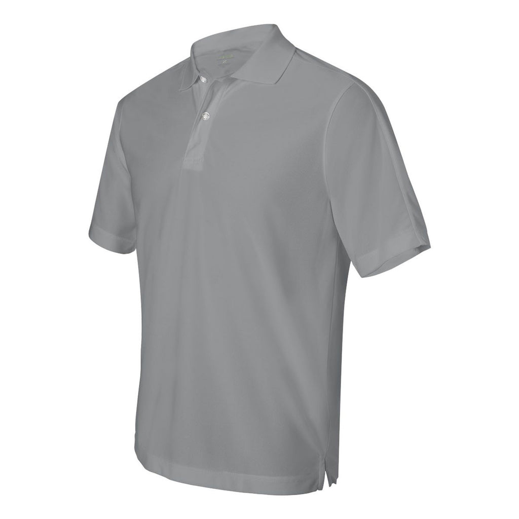 IZOD Men's Light Grey Performance Poly Pique Polo