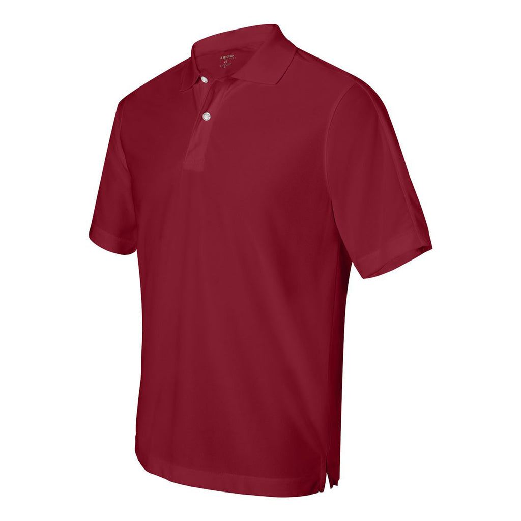 IZOD Men's Real Red Performance Poly Pique Polo