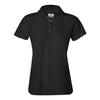 izod-womens-black-poly-polo