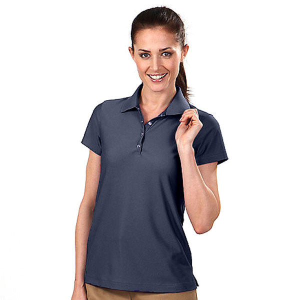 IZOD Women's Chrome Navy Performance Poly Pique Polo