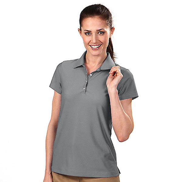 IZOD Women's Light Grey Performance Poly Pique Polo