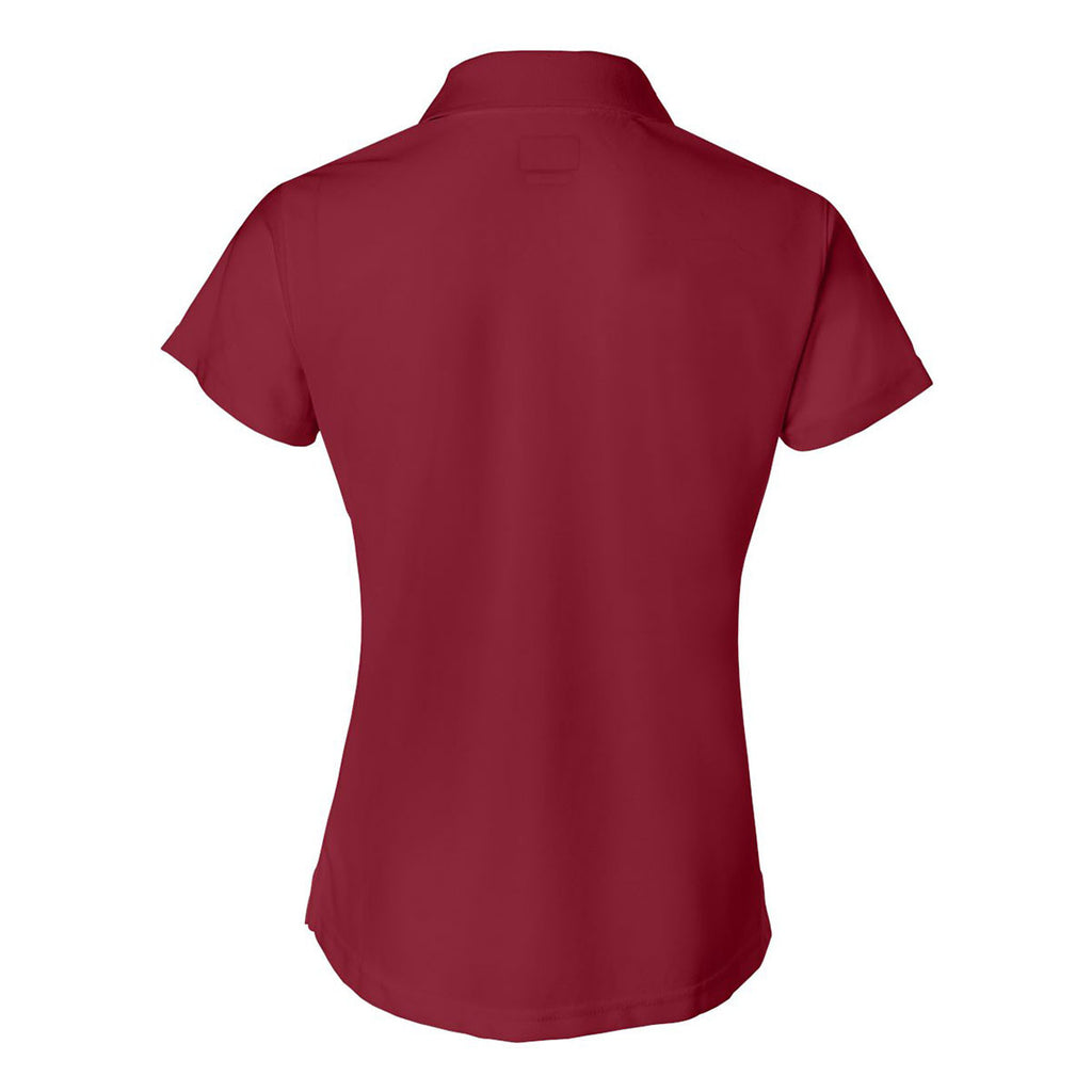 IZOD Women's Real Red Performance Poly Pique Polo