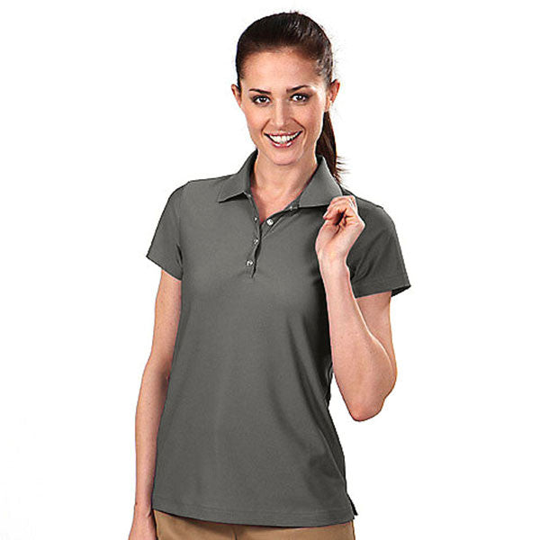 IZOD Women's Charcoal Grey Performance Poly Pique Polo