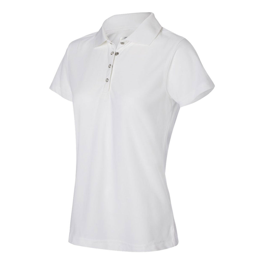 IZOD Women's White Performance Poly Pique Polo
