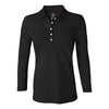 izod-womens-black-stretch-polo
