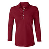 izod-womens-red-stretch-polo