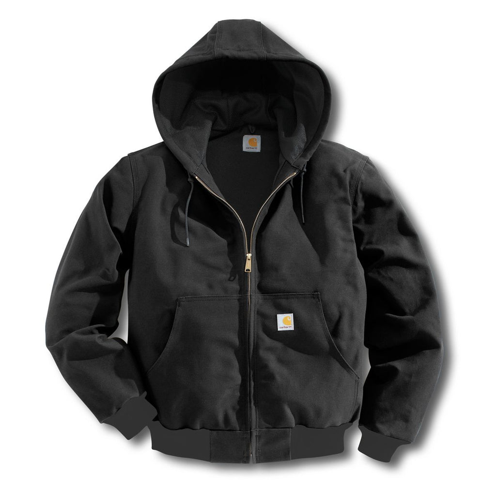 59b8b12308 Carhartt Men's Tall Black Thermal Lined Duck Active Jacket