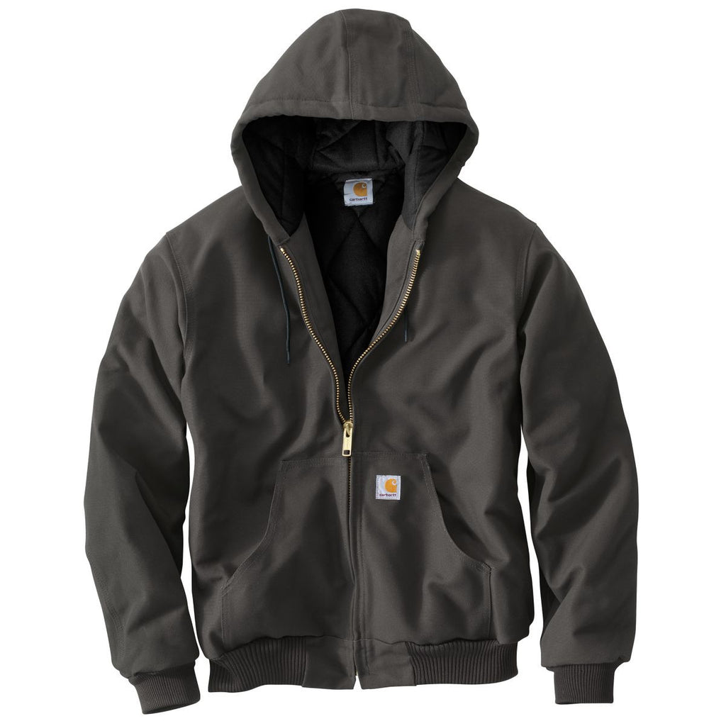 Carhartt Mens Gravel Quilted Flannel Lined Duck Active Jacket