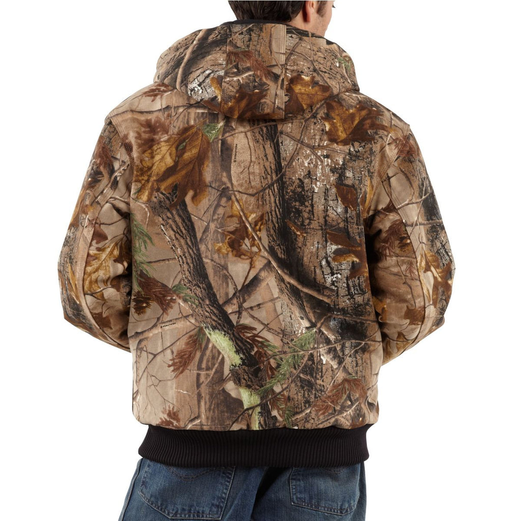 a726af2bd4156 Carhartt Men's Realtree Xtra Quilted-Flannel Lined Camo Active Jacket
