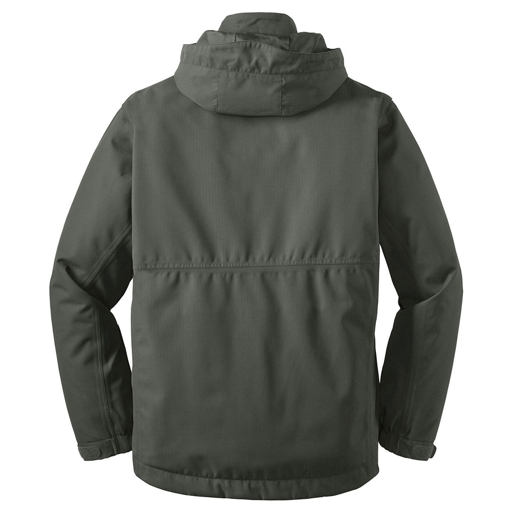Port Authority Men's Spruce Green Herringbone 3-in-1 Parka